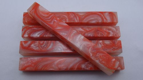 Acryl Pen Blanks perlmutt orange marmoriert