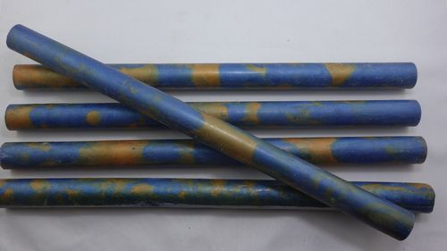 Acryl Pen Blanks Blau-Goldfarben Ø 18mm x 300mm